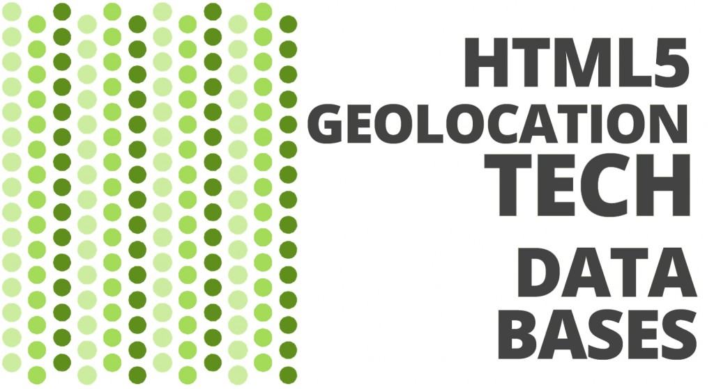 HTML5 & Geolocation Technologies. Datasases